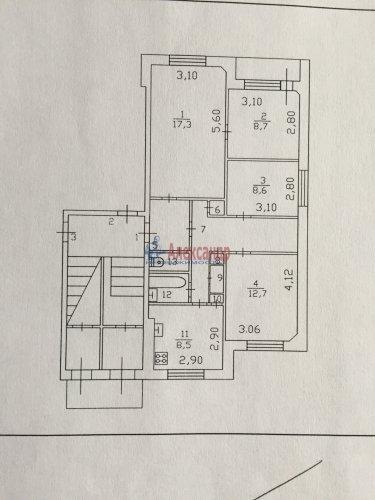 4-комнатная квартира (74м2) на продажу по адресу Горбунки дер., 7— фото 11 из 11