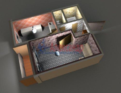 1-комнатная квартира (37м2) на продажу по адресу Коллонтай ул., 28— фото 1 из 10