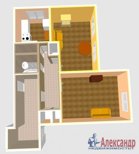 2-комнатная квартира (53м2) на продажу по адресу Богатырский пр., 6— фото 7 из 10