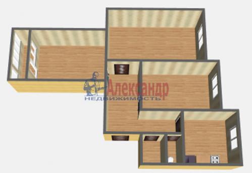 3-комнатная квартира (72м2) на продажу по адресу Обуховской Обороны пр., 144— фото 2 из 11