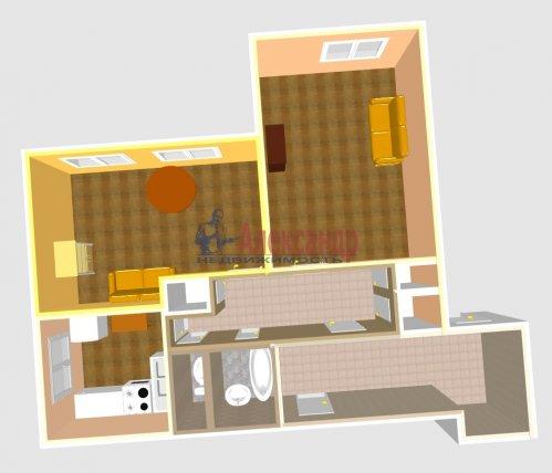 2-комнатная квартира (53м2) на продажу по адресу Богатырский пр., 6— фото 8 из 10