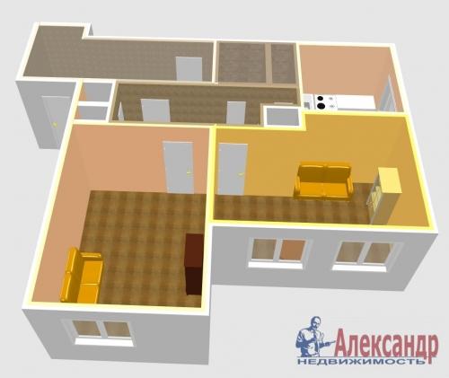 2-комнатная квартира (53м2) на продажу по адресу Богатырский пр., 6— фото 9 из 10
