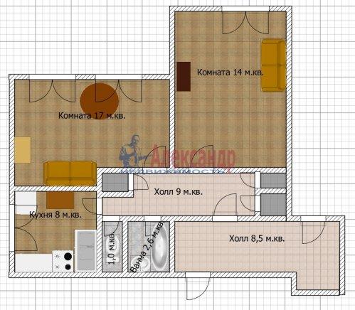2-комнатная квартира (53м2) на продажу по адресу Богатырский пр., 6— фото 10 из 10