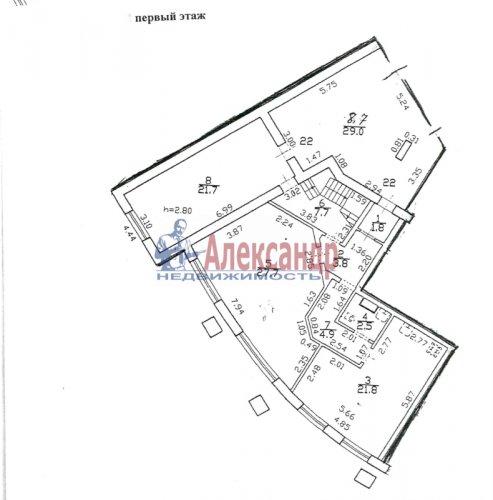 5-комнатная квартира (187м2) на продажу по адресу Пушкин г., Ленинградская ул., 46— фото 1 из 6
