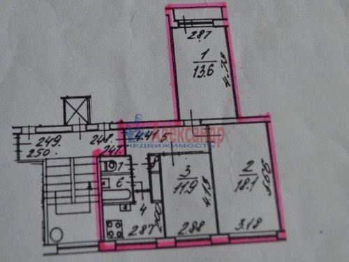 3-комнатная квартира (61м2) на продажу по адресу Лужская ул., 4— фото 8 из 8