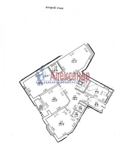 5-комнатная квартира (187м2) на продажу по адресу Пушкин г., Ленинградская ул., 46— фото 2 из 6