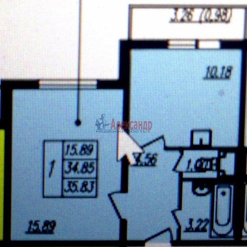 1-комнатная квартира (35м2) на продажу по адресу Маршала Казакова ул., 78— фото 4 из 4