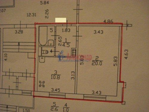 1-комнатная квартира (39м2) на продажу по адресу Оптиков ул., 52— фото 20 из 24