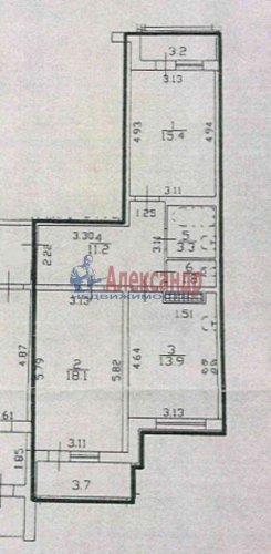2-комнатная квартира (64м2) на продажу по адресу Ленинский пр., 55— фото 17 из 18