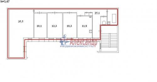 4-комнатная квартира (111м2) на продажу по адресу Ковенский пер., 28— фото 7 из 7