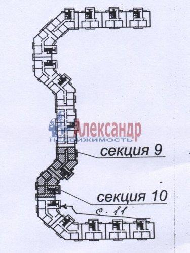 1-комнатная квартира (32м2) на продажу по адресу Шушары пос., Новгородский просп., 10— фото 2 из 2