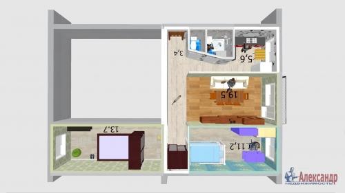 3-комнатная квартира (57м2) на продажу по адресу Народного Ополчения пр., 227— фото 16 из 18
