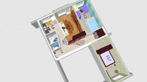 3-комнатная квартира (57м2) на продажу по адресу Народного Ополчения пр., 227— фото 17 из 18