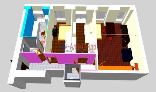 3-комнатная квартира (69м2) на продажу по адресу Кропоткина ул., 17— фото 3 из 11