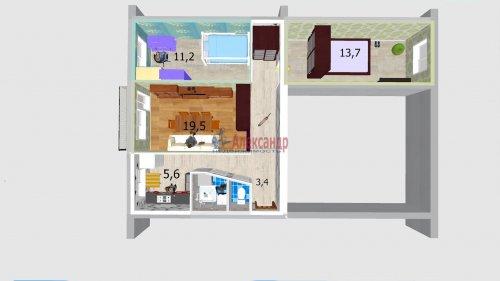 3-комнатная квартира (57м2) на продажу по адресу Народного Ополчения пр., 227— фото 18 из 18