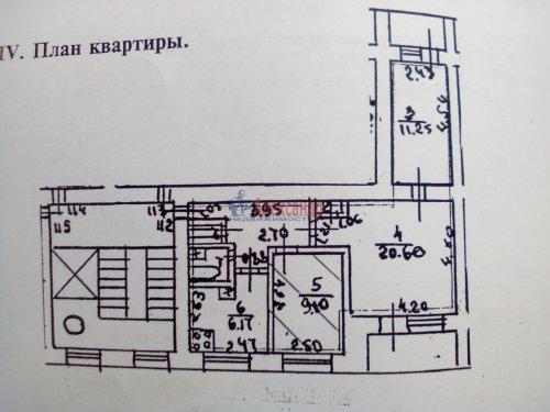 Комната в 3-комнатной квартире (58м2) на продажу по адресу Подвойского ул., 42— фото 3 из 3