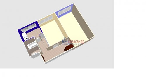 2-комнатная квартира (47м2) на продажу по адресу Придорожная аллея, 5— фото 2 из 6