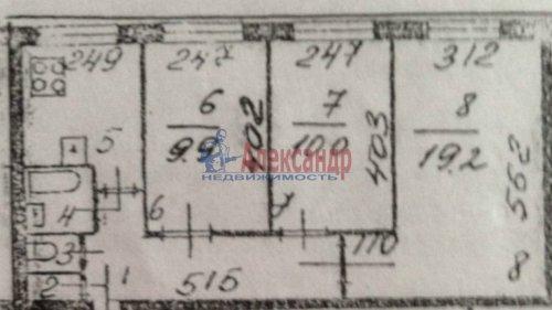 3-комнатная квартира (59м2) на продажу по адресу Искровский пр., 8— фото 1 из 1