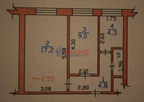 2-комнатная квартира (37м2) на продажу по адресу Первомайское 1-е пос., 1— фото 11 из 12