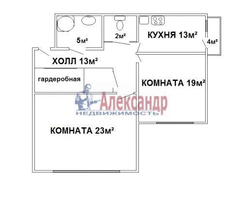 2-комнатная квартира (77м2) на продажу по адресу 2 Жерновская ул., 2/4— фото 26 из 30