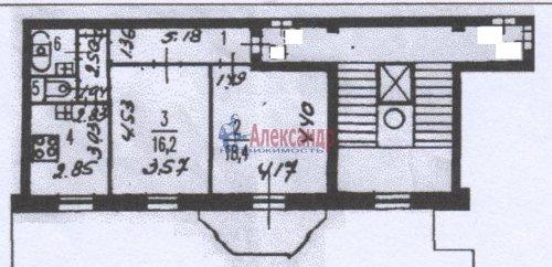 2-комнатная квартира (59м2) на продажу по адресу Московский просп., 189— фото 11 из 11