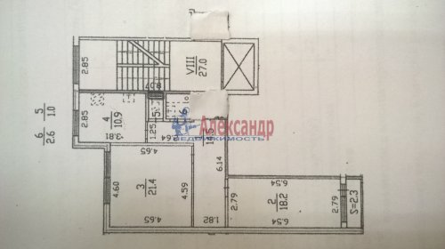 2-комнатная квартира (69м2) на продажу по адресу Шушары пос., Пушкинская ул., 48— фото 3 из 16