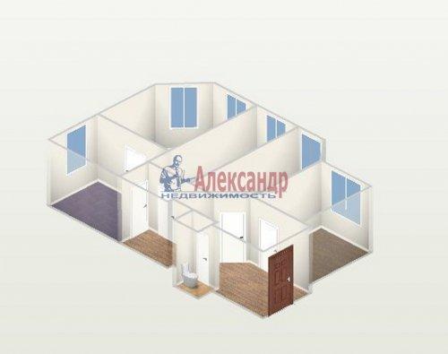 Комната в 4-комнатной квартире (60м2) на продажу по адресу Большая Зеленина ул., 16— фото 1 из 3