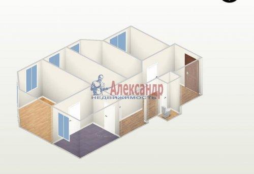 Комната в 4-комнатной квартире (60м2) на продажу по адресу Большая Зеленина ул., 16— фото 2 из 3