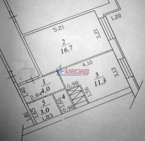 1-комнатная квартира (37м2) на продажу по адресу Всеволожск г., Центральная ул., 4— фото 5 из 5