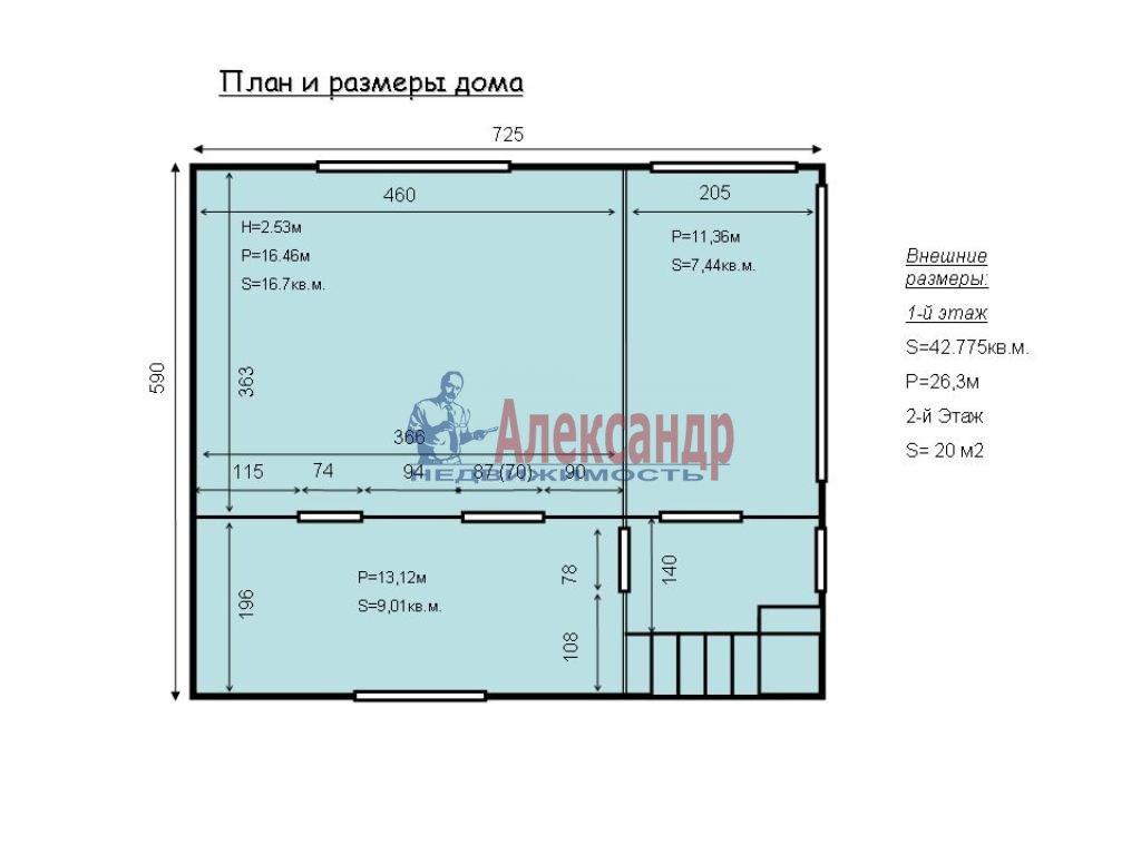 Дачный дом (60м2) на продажу — фото 11 из 12